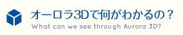 オーロラ3Dで何がわかるの?